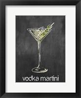 Vodka Martini Chalk Framed Print