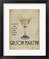 Gibson Martini Framed Print