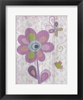 Framed Boho Flower I