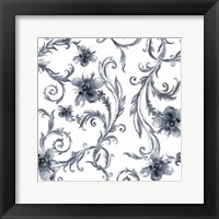 Flair Blue Framed Print