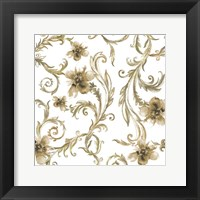Flair Gold Framed Print