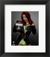 Framed Sasha Banks with the NXT Women's Championship Belt 2015