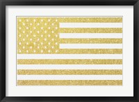 Gold Flag 3 Framed Print