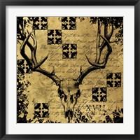 Framed B&G Deer Skull