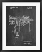 Framed Mac 10 Gun