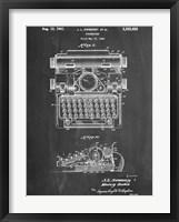 Framed Typewriter CH