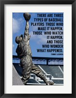 Framed Three Types of Baseball Players