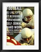 Framed Football is Like Life
