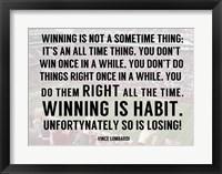 Framed Winning is Habit
