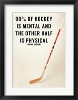 Framed 90% Of Hockey