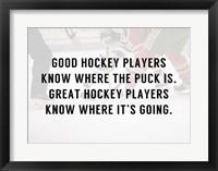 Framed Good Hockey Player