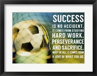 Framed Success - soccer quote