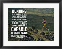 Framed Running is Symbolic of Life