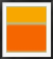 Abstract Orange & Yellow Framed Print