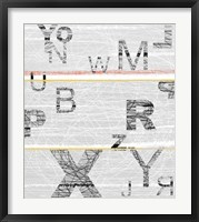 Numbers Grey Framed Print