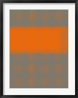 Abstract Orange 3 Framed Print