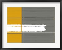 Framed Grey And Yellow