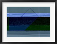 Framed Blue And Green