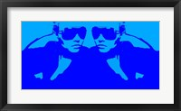 Niki Mirror Blue Framed Print