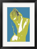 Blue Drama Framed Print