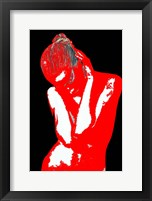 Red Black Drama Framed Print
