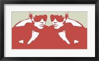Niki In Mirror Framed Print