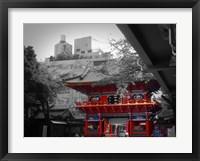 Framed Temple In Tokyo