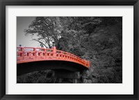 Framed Nikko Red Bridge