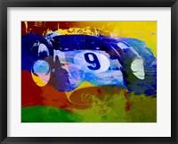 Framed Ferrari Testarossa Watercolor