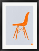 Framed Orange Eames Chair