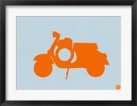 Framed Orange Scooter