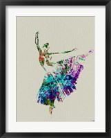 Ballerina Watercolor 5 Framed Print