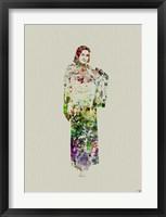 Kimono Dancer 5 Framed Print