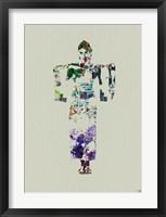 Kimono Dancer 7 Framed Print