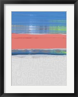 Abstract  Blue View 2 Framed Print