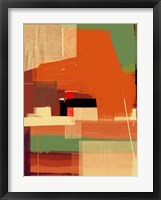 Green and Brown Abstract 4 Framed Print