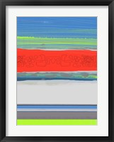 Abstract  Blue View 4 Framed Print
