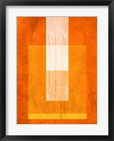 Orange Paper 2 Framed Print