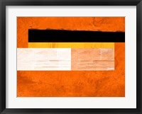 Orange Paper 4 Framed Print