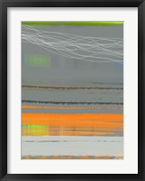 Abstract Orange Stripe1 Framed Print