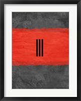 Grey and Red Abstract 1 Framed Print