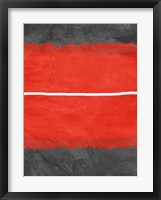 Grey and Red Abstract 2 Framed Print