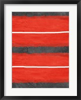 Grey and Red Abstract 3 Framed Print