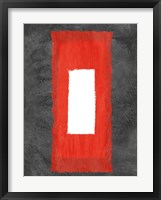Grey and Red Abstract 4 Framed Print