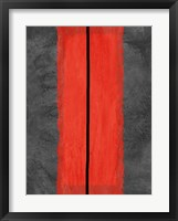 Grey and Red Abstract 5 Framed Print