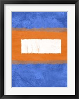 Blue and Orange Abstract Theme 1 Framed Print