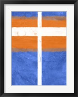 Blue and Orange Abstract Theme 3 Framed Print