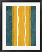 Green and Yellow Abstract Theme 2 Framed Print