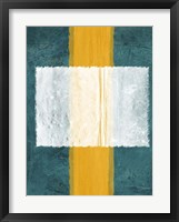 Green and Yellow Abstract Theme 3 Framed Print
