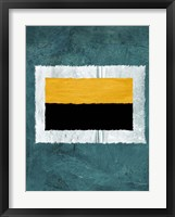 Green and Yellow Abstract Theme 5 Framed Print